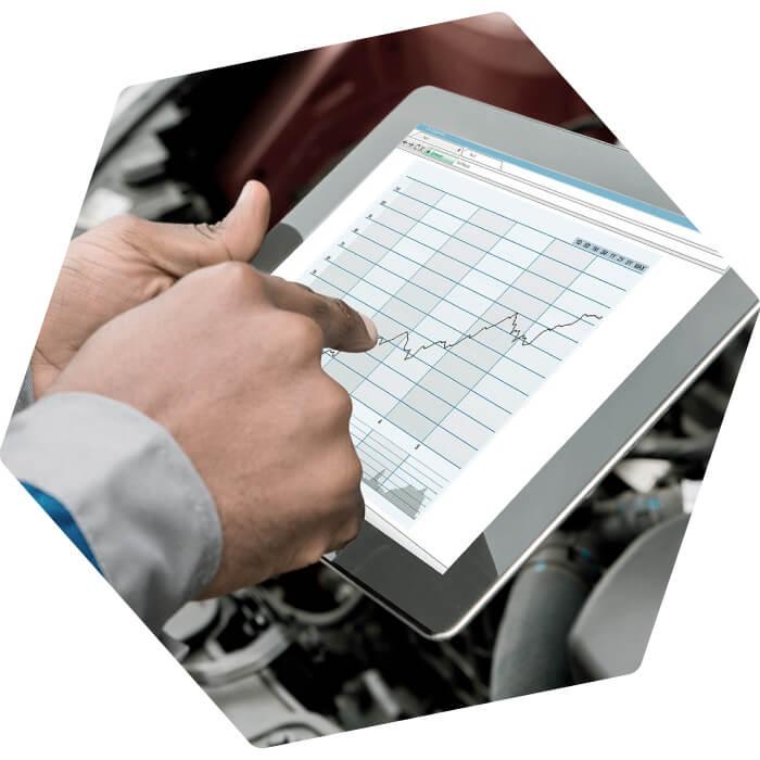 Gestión del taller sobre Tablet móvil